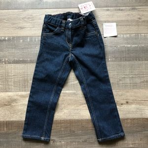 HANNA ANDERSSON Girls Straight Leg Denim Jeans 4